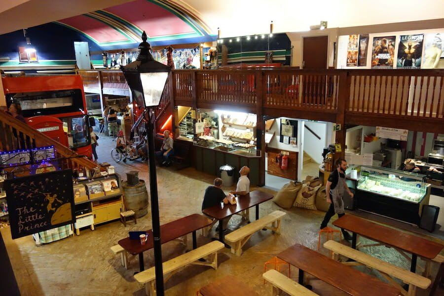 Inside the old kent market
